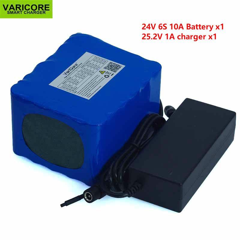 24 v 10 Ah 6S5P 18650 Batterie Lithium-Batterie 24 v Elektrische Fahrrad Moped/Elektrische/Li-Ion Batterie Verpackung + 25,2 v 2A Ladegerät