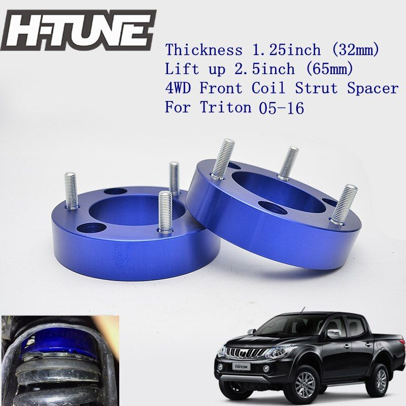H-TUNE 4x4 Accesorios 32mm Aluminum Front Coil Strut Shock Spacer Lift Kit for Triton L200 2005-2016
