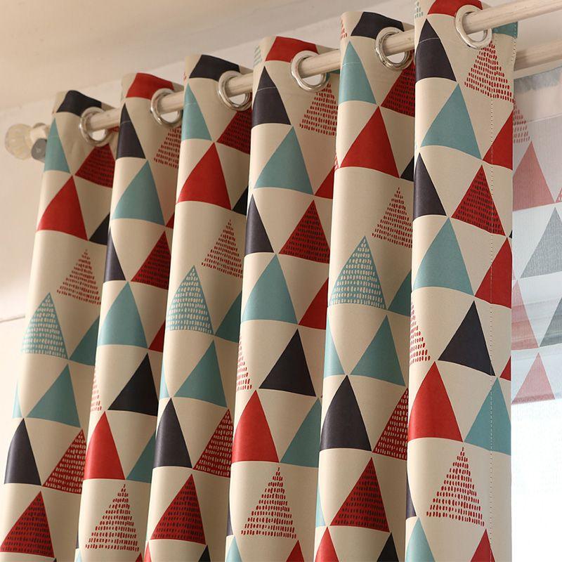 Moderne Géométrique Rideaux pour Salon Chambre Rideaux De Fenêtre De Luxe Marque Rideaux Blackout Kid Chambre Diviseur Panneau Rideaux