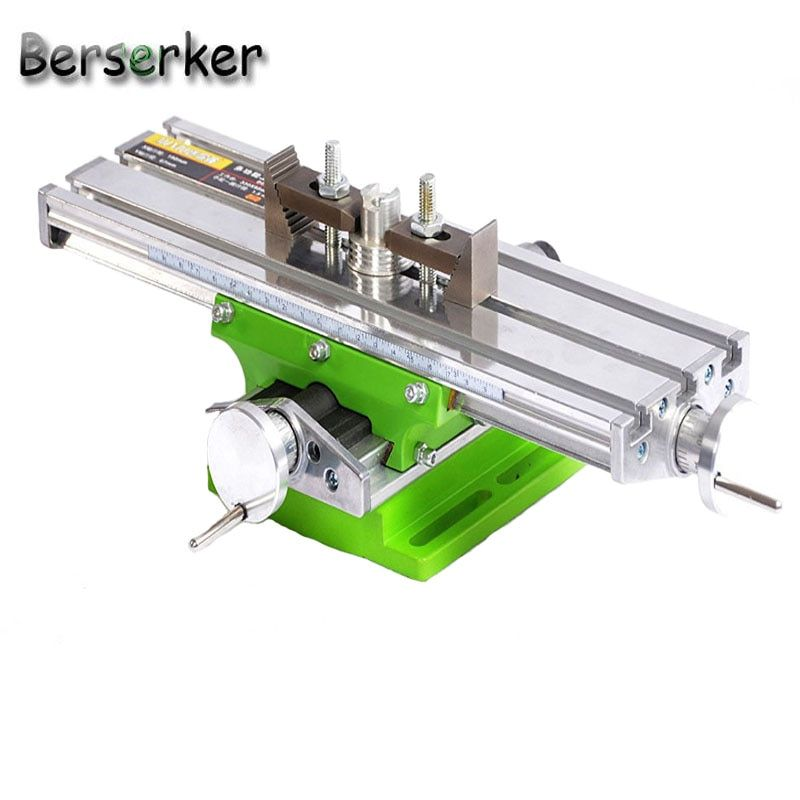 Berserker Working Cross Table Compound Bench Worktable X Y Axis Adjustment for Milling Machine Precision Tools BG-6330