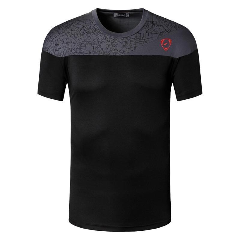 Nouveauté 2019 hommes Designer T Shirt décontracté séchage rapide Slim Fit dessus de chemise et t-shirts taille S M L XL LSL171 (veuillez choisir la taille USA)