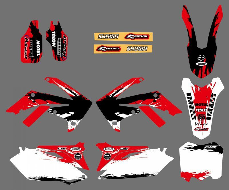 GRAPHICS & BACKGROUNDS DECAL STICKERS Kits for Honda CRF250R CRF250 2010-2013 & CRF450R CRF450 2009-2012 CRF 250 250R 450 450R