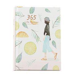 Kreatif Hardcover Tahun Rencana Notebook 365 Hari Halaman Dalam Bulanan Daily Planner Organizer Buku Harian
