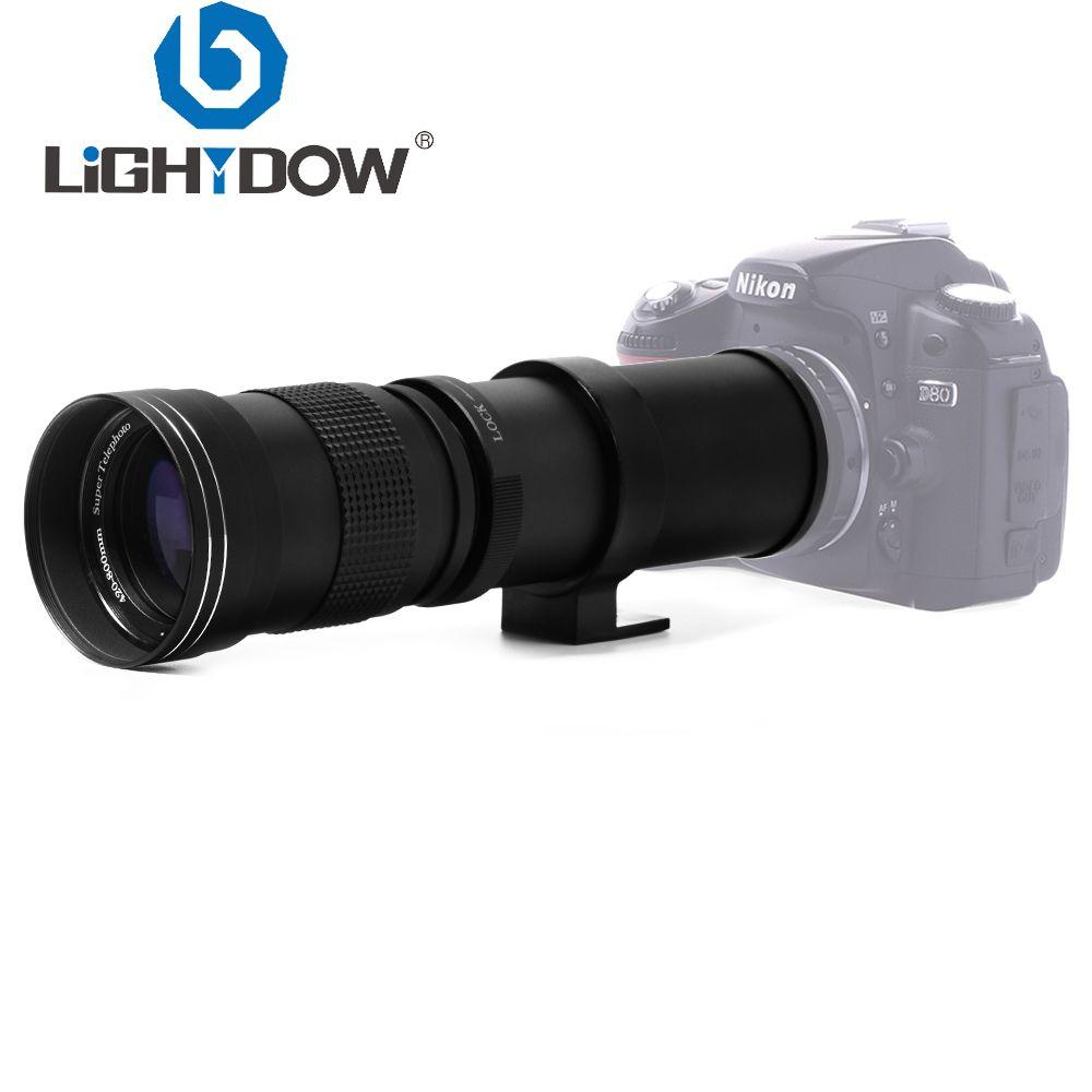 Lightdow 420-800mm F/8.3-16 Super téléobjectif Zoom manuel pour Canon Nikon Sony Pentax appareil photo reflex numérique