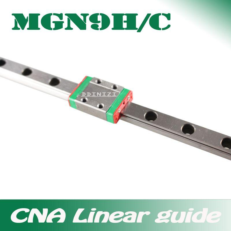 9mm Linéaire Guide MGN9 100 150 200 250 300 350 400 450 500 550 600 700mm linéaire rail + MGN9H ou MGN9C bloc 3d imprimante CNC