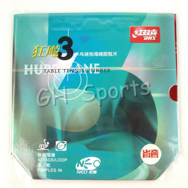 DHS NEO Hurricane3 Hurricane 3 Provincial Pips-In Table Tennis PingPong Rubber With orange Sponge