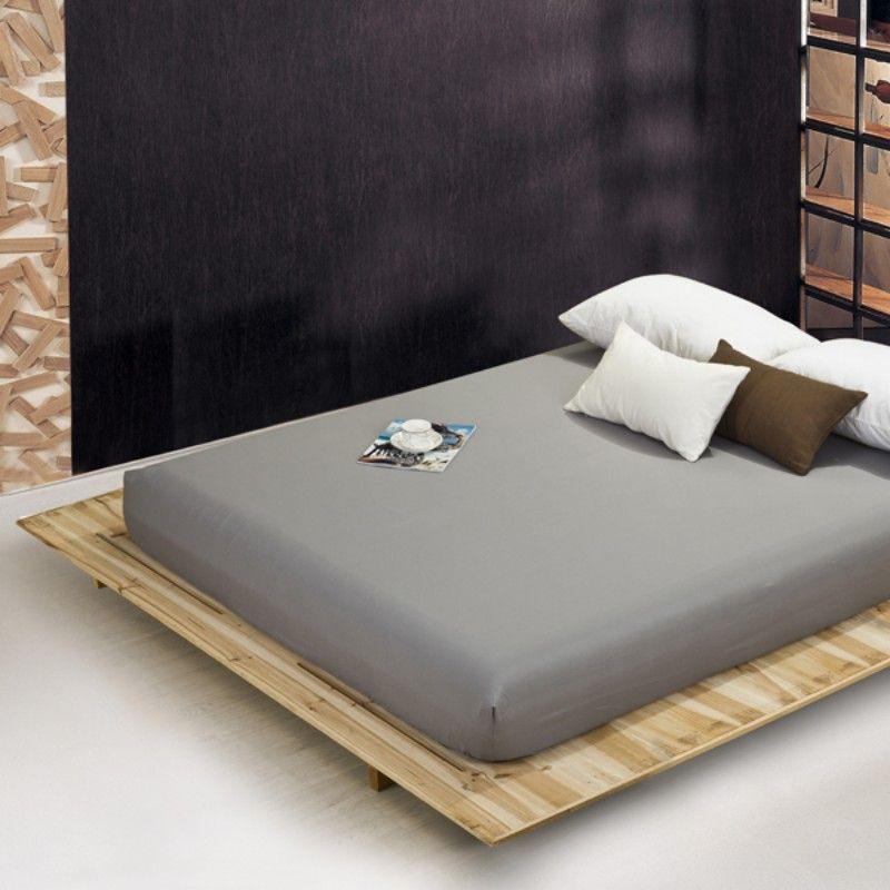 En gros solide couleur feuilles drap-housse élastique matelas couverture linge de lit couvre-lit polyester coton simple jumeau complet reine