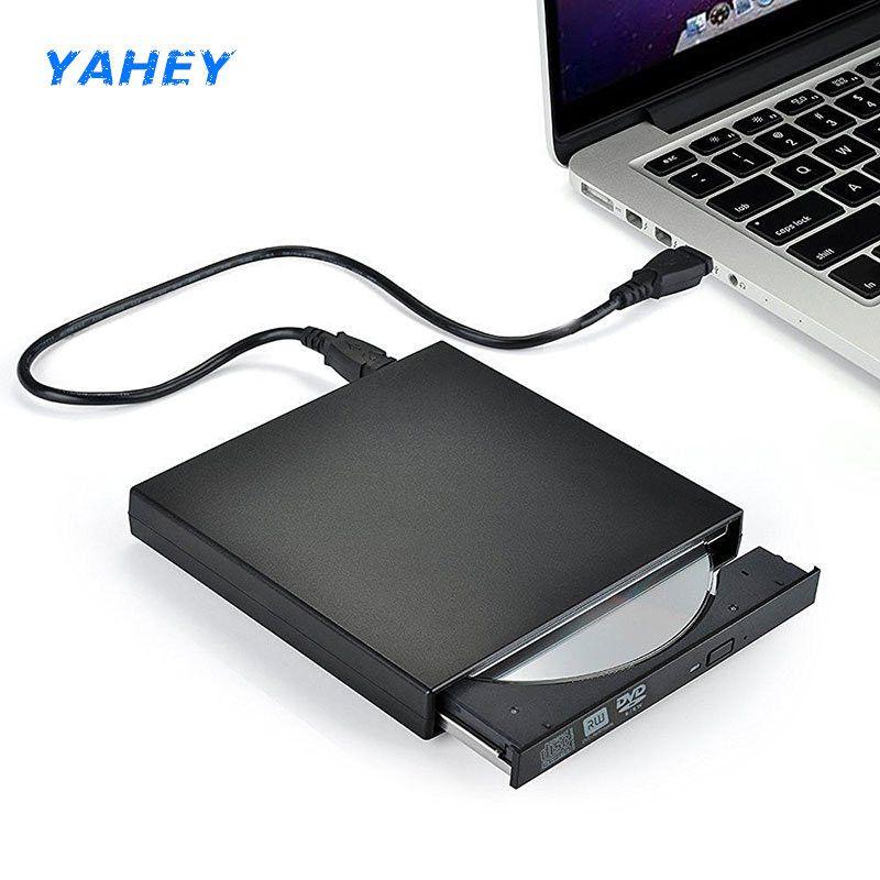USB 2.0 Tragbare Ultra Dünne Optische Externe DVD-RW/CD-RW Brenner Writer Rewriter für MacBook Laptop PC windows10/7/ 8 XP