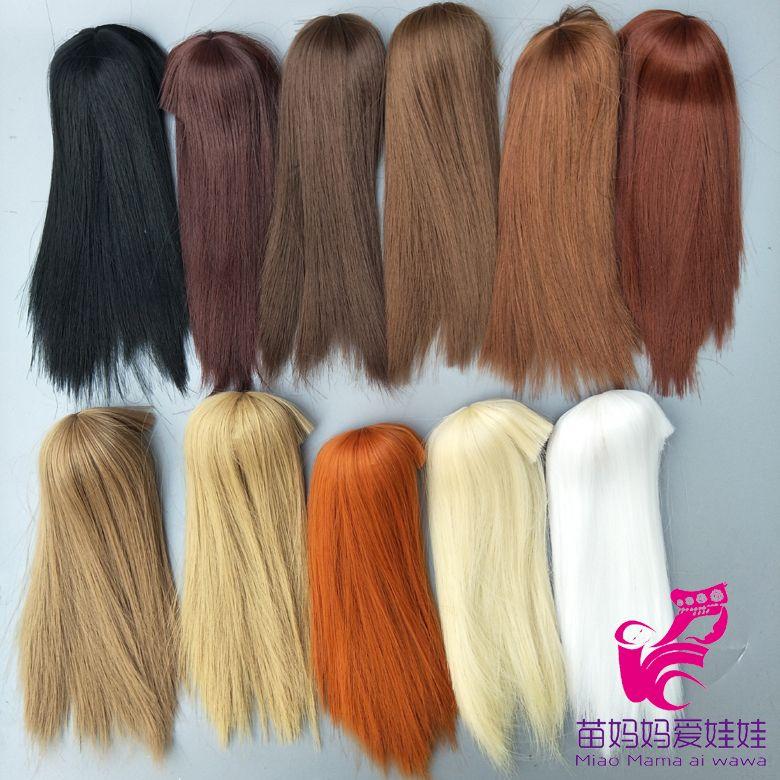head circel straight doll hair for barbie doll repair diy BJD 1/12 Doll Wig Hair