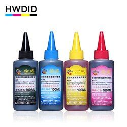 4 x 100ml Universal Compatible Refill Dye Ink kit For HP for Canon for Brother for Epson for Lexmark for DELL for Kodak printer