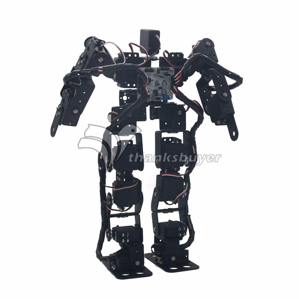 2018 17DOF Biped Robotic Educational Robot Kit Servo Bracket Ball Bearing Humanoid Robot