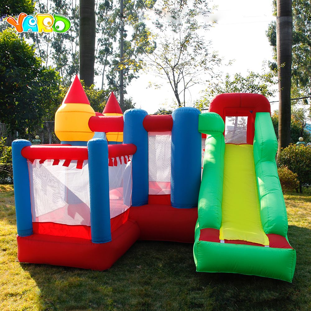 YARD 3*3*2.1M Inflatable Bouncers Games Jump House Castle Slide Blower Kids Outdoors Inflatable Castle Ship By Express Christmas