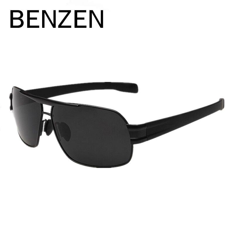 BENZEN Männer Polarisierte Sonnenbrille Legierung Männlich Fahren Sonnenbrille Angeln Brille Brillen Oculos De Sol Masculino Mit Fall 9034