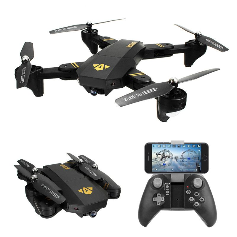 VISUO XS809HW XS809W WIFI FPV Foldable Arm FPV Quadcopter With 2MP 0.3MP HD Camera 6Axis Headless Altitude Hold RC Drone Toy RTF