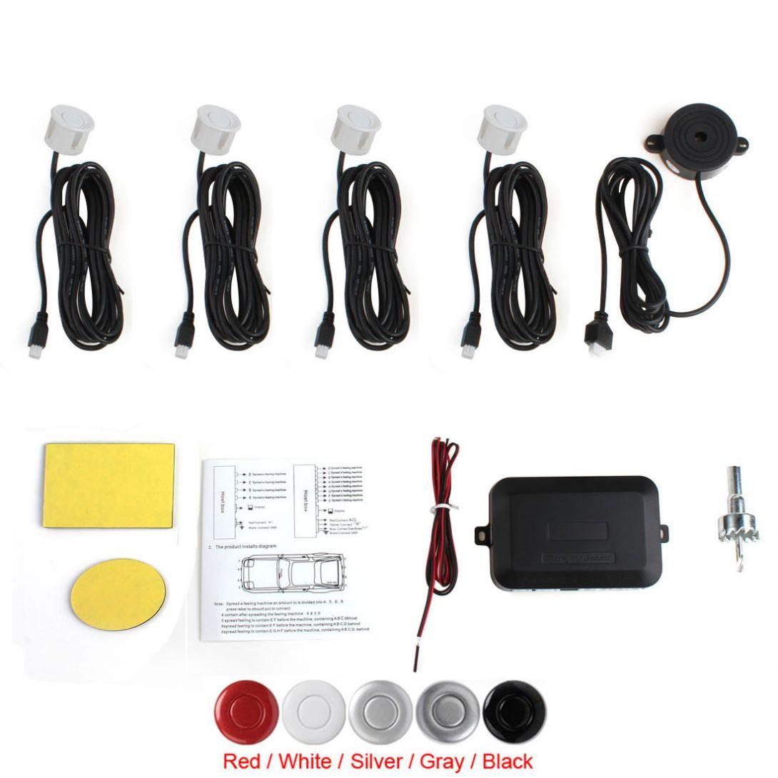 4 capteurs Buzzer système de capteur de stationnement de voiture système de sauvegarde inverse alerte sonore système de stationnement d'alarme de secours