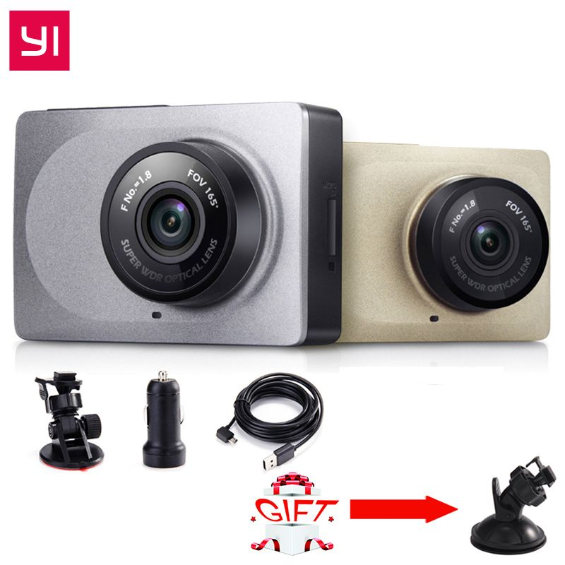 Yi DashCamera DVR édition internationale WiFi 165 degrés 1080 P 60fps 2.7 pouces caméscope pour Android et IOS Smart DashCamera