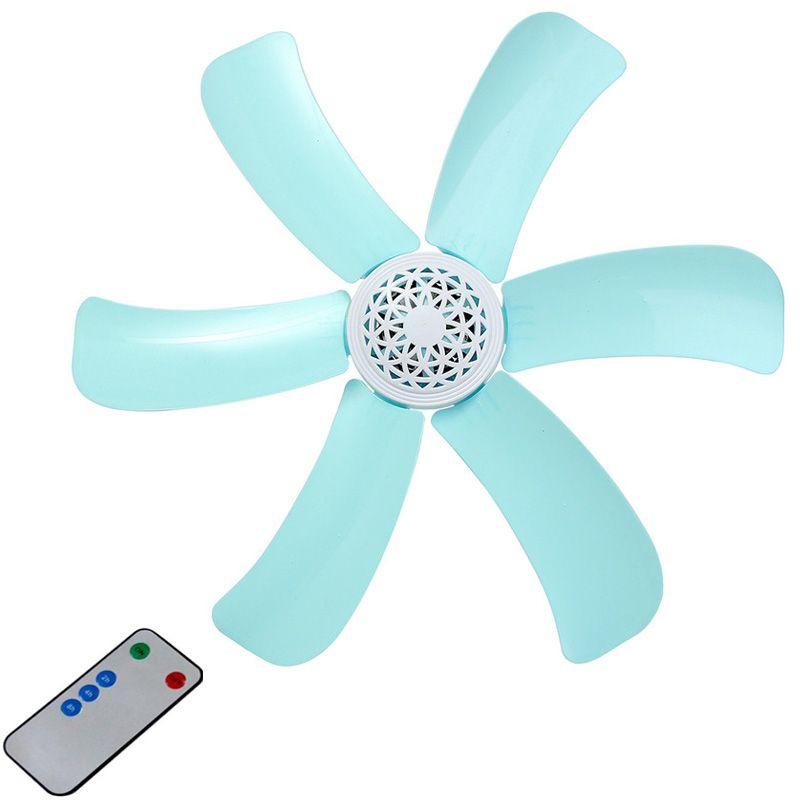 Bleu 7 w silencieux en plastique économie d'énergie mini ventilateur de plafond 3-5 tourner la page ventilateur 220 V ventilateur suspendu doux vent ménage