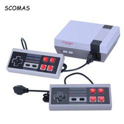 SCOMAS Classic Mini TV juego 8 Bits familia juegos portátiles consolas con Gamepad Dual incorporado 620 juegos AV Out juego Retro