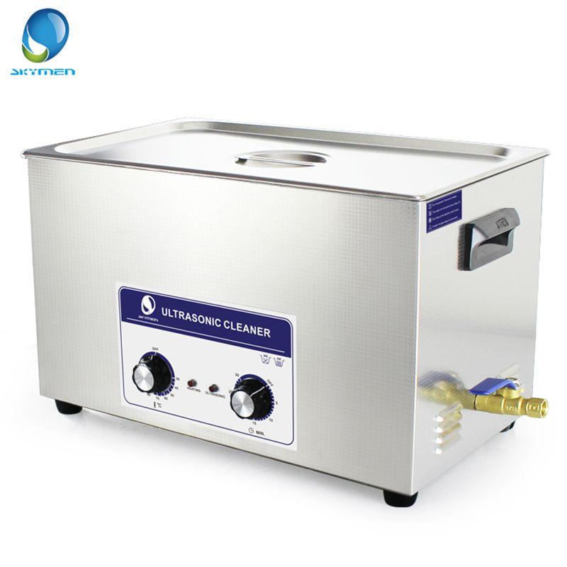 SKYMEN Knopf Typ Ultraschall Reiniger Bad 30L 600 W 40 kHz 110/220 V für Labor Medizinische Hardware teile optische glas Auto teile