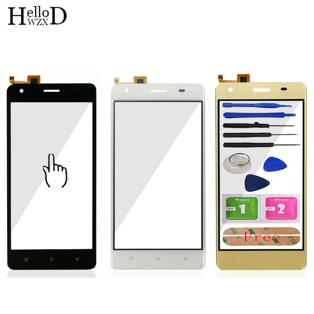 5.0'' Mobile Phone TouchGlass For Vertex Impress Max Front Touch Screen Glass Digitizer Panel Lens Sensor Tools Free Adhesive