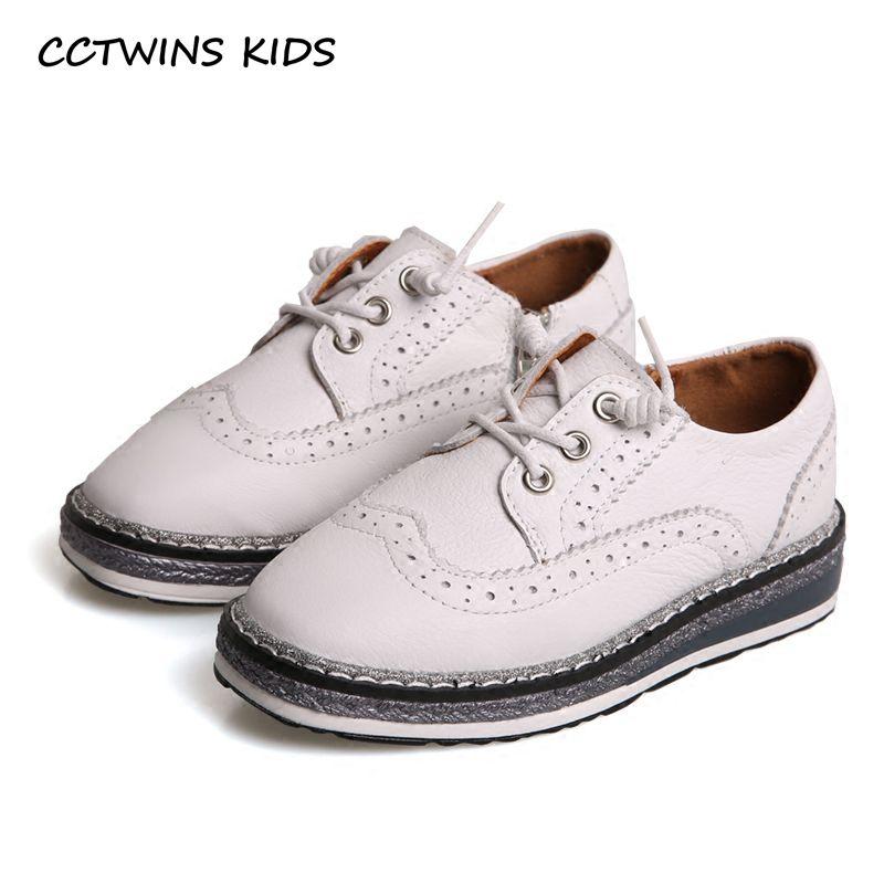 CCTWINS KINDER 2018 Frühjahr Kind Kind Mode Echtes Leder Lace-up Schuh Dicken Boden Kleinkind Band Schwarz schuh G1618