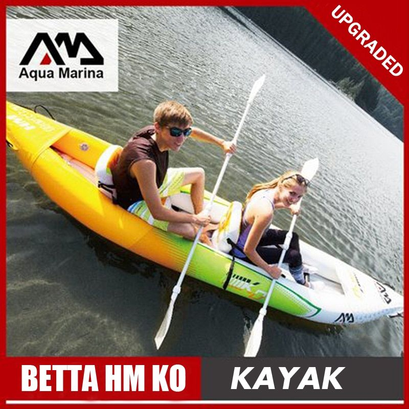 Aqua Marina BETTA HM KO inflatable boat fishing sport kayak canoe pvc dinghy raft aluminium paddle foot pump seat PVC laminated