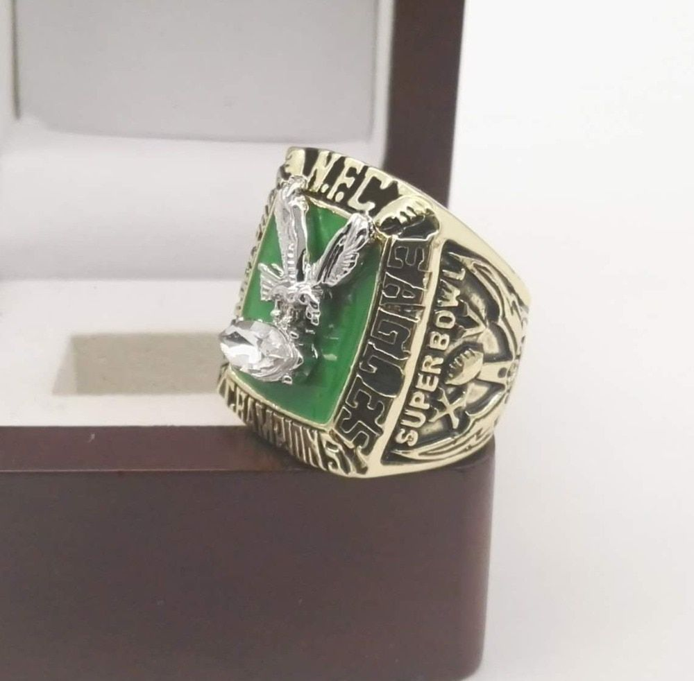 Factory direct sale 1980 Philadelphia eagles Replica world Championship Rings with Wooden Box
