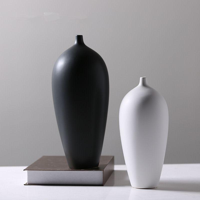 Moderne et Simple Style chinois Jingdezhen porcelaine Vases en céramique Vases pour mariage décoration de la maison bureau fleurs placées 13
