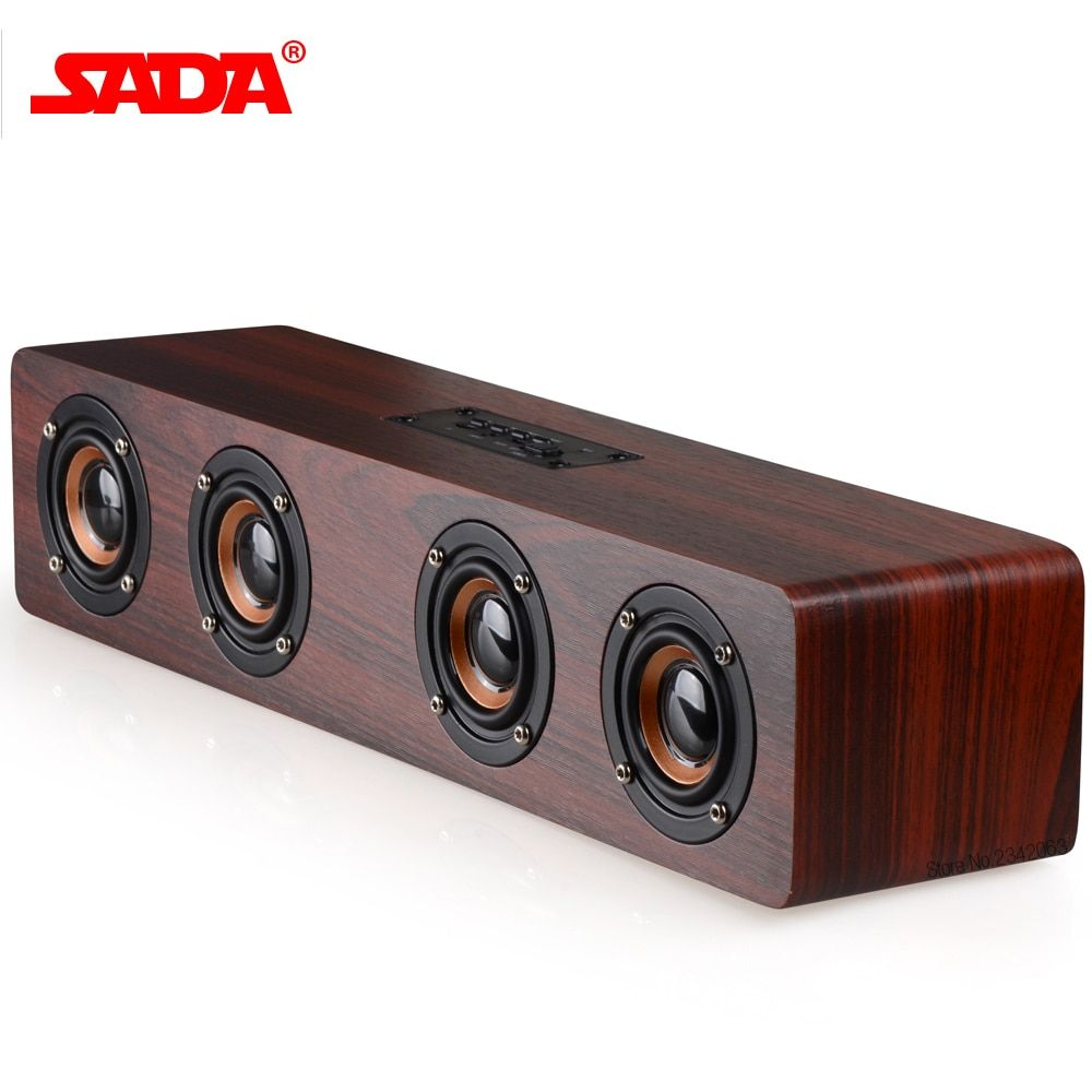 SADA 2017 Retro Wood Wireless Bluetooth Speaker Portable Speaker MP3 Computer Speakers Box 3D <font><b>Loudspeakers</b></font> USB Charging enceinte