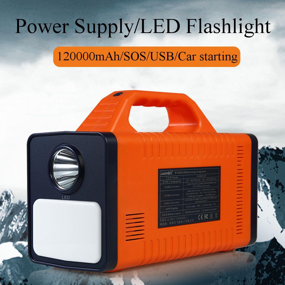 120000 mAh 444Wh 300 W Tragbare Solar Power Inverter Generator Camping Licht Auto Starthilfe Energie Lagerung Mobilen Power Versorgung