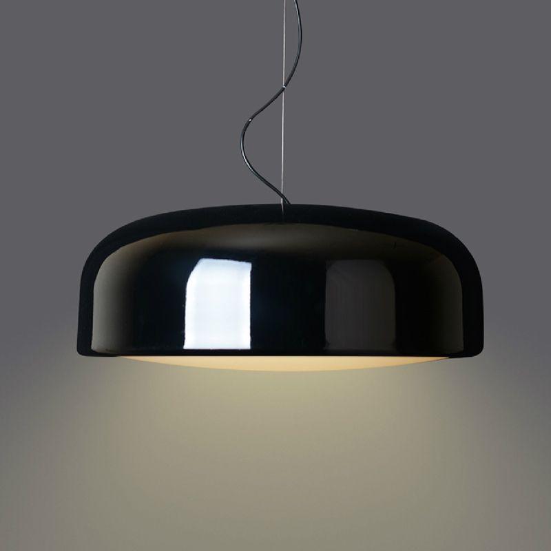 Suspension ronde moderne de minimalisme nordique, lampe pendante d'originalité noire/blanche, pour le Bar d'étude de salon de restaurant etc.