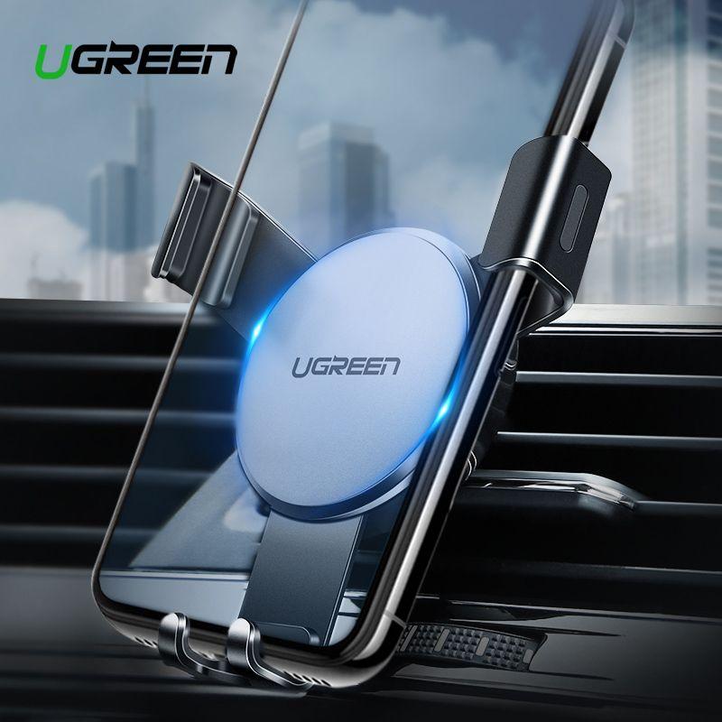 Ugreen Auto Telefon Halter für iPhone Xs X 8 7 Air Vent Halterung Metall Platte Handy Grip Halter Für Telefon handy Halter Stehen