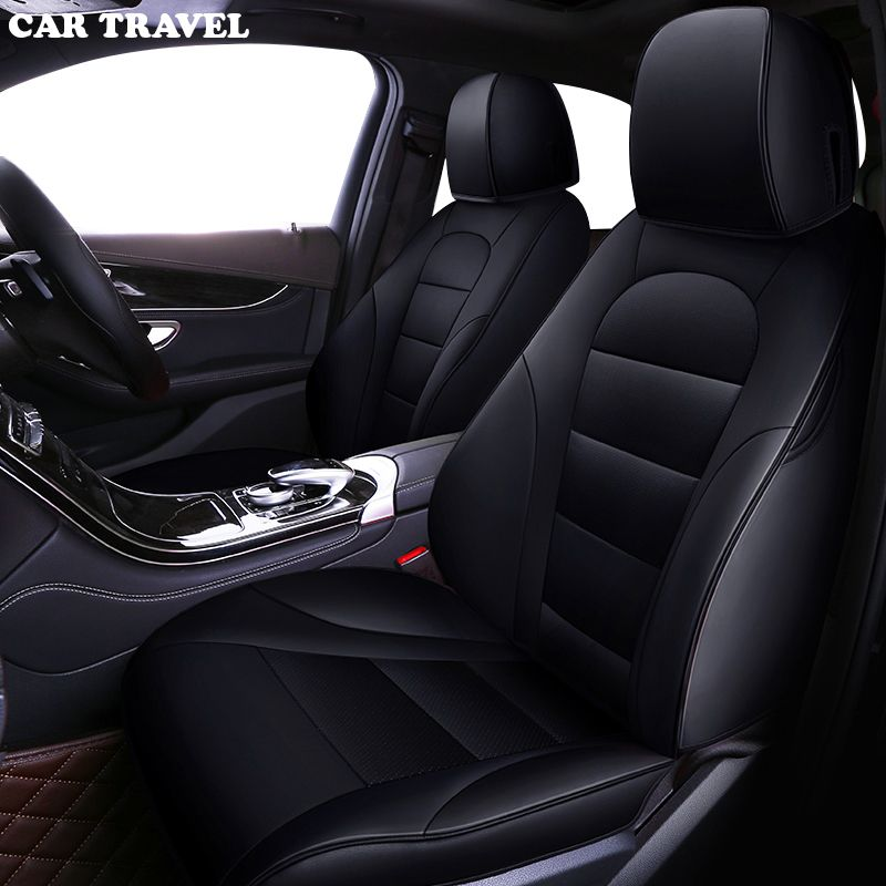 CAR TRAVEL Custom leather car seat cover for Toyota Corolla Camry Rav4 Auris Prius Yalis Avensis SUV auto accessories car sticks