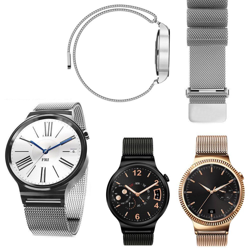 Acier inoxydable Milanese Boucle En Métal Montre Smart Watch Bande Magetic Fermeture Milanese Bande pour Huawei Montre HWMLMCS
