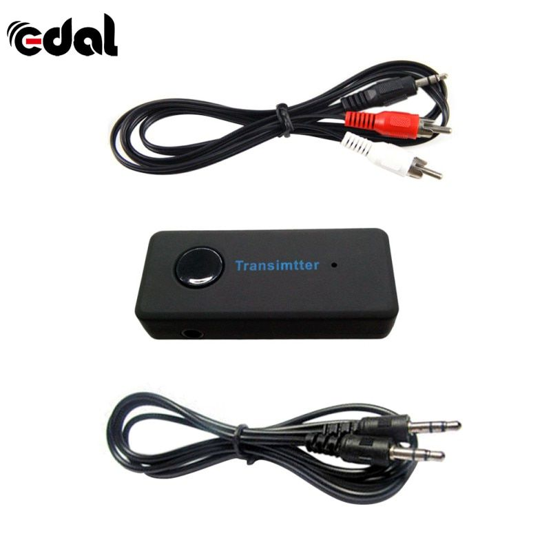 EDAL Wireless Bluetooth3.0 A2DP 3.5mm Stereo Audio Cable Music Audio Bluetooth Transmitter Sender Adapter for TV