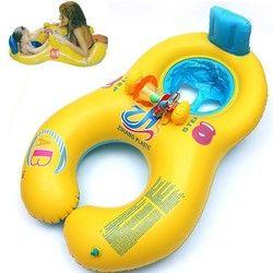 Gonflable bébé de cou de natation anneau mère et enfant de natation cercle double anneaux de natation flotteur siège piscine