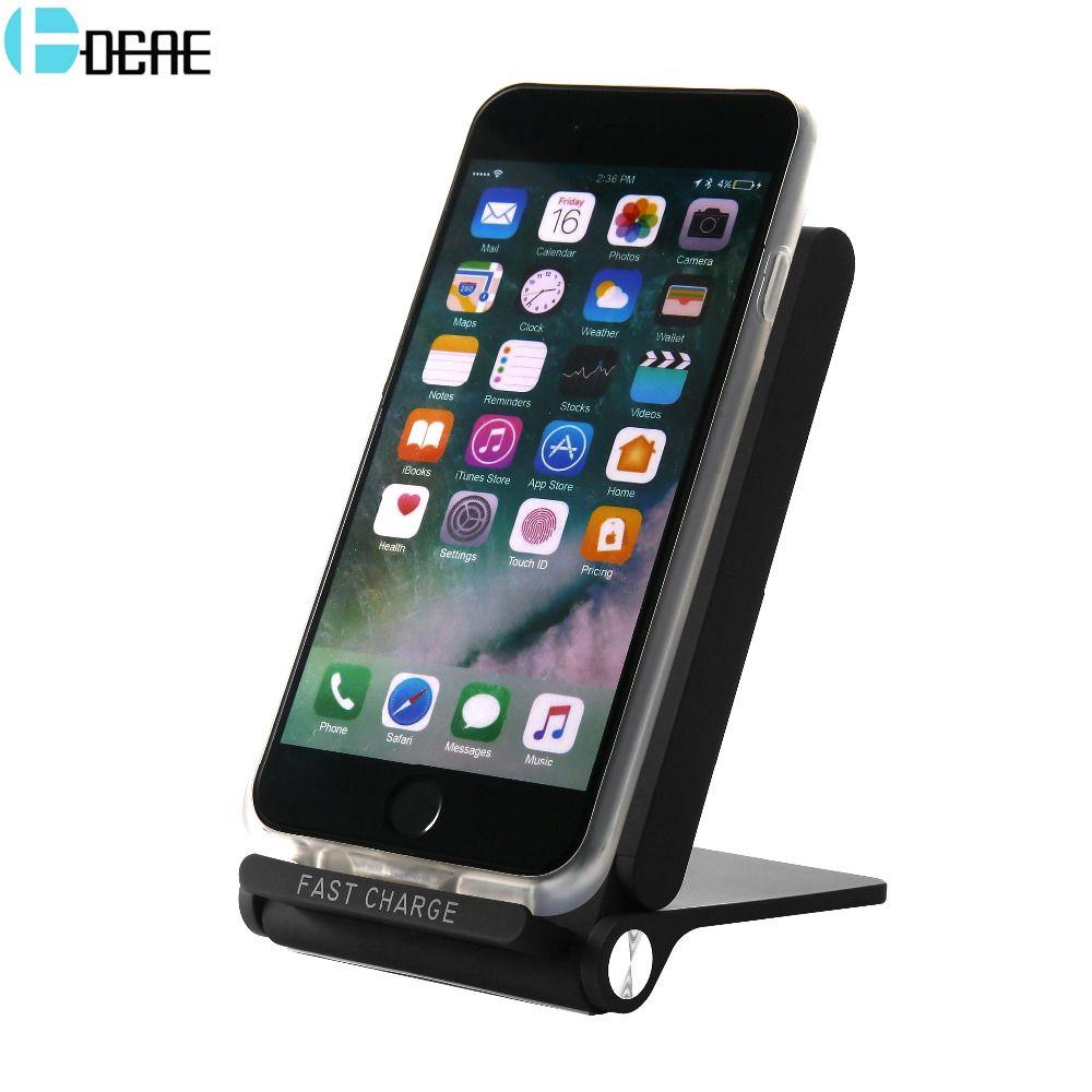 DCAE Qi Rapide Sans Fil Chargeur Pour iPhone X 8 Plus Chargeur USB 10 W Puissance De Charge Pour Samsung Galaxy S8 S9 Note 8 Xiaomi de mélange 2 s