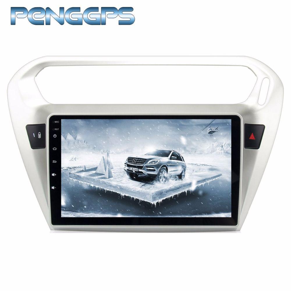 Octa Core 2 Din DVD Player Android 8.0 Auto Radio für Peugeot 301 2014-2017 für Citroen Elysee 2014- 2017 GPS Navigation Steuergerät