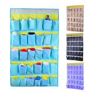 30 cas téléphone portable sac suspendu dortoir salle de classe sac mural multicouche sac porte tenture murale poche 90*54 cm