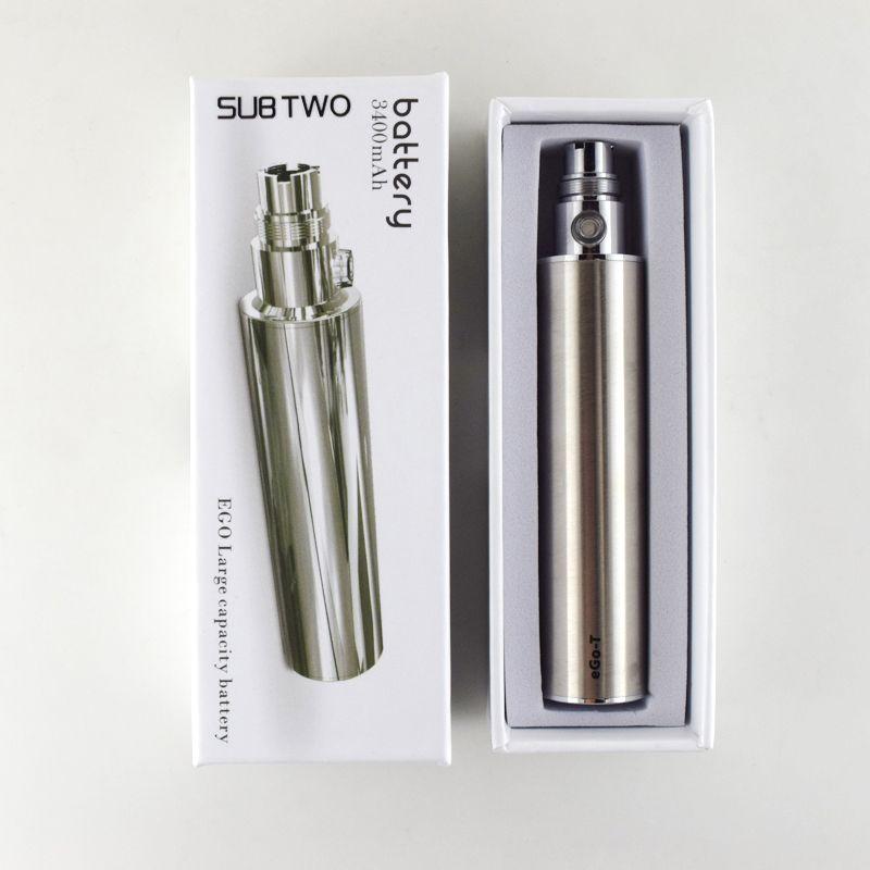 SUB deux haute qualité 3400 mAh batterie E Cigarette batterie eGo tension Variable 3.2 V-4.2 V Cigarette électronique batterie ecig