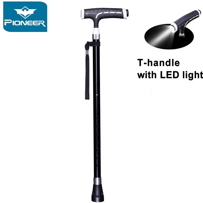 Lightweight Walking Canes With LED Flashlight Adjustable Walking Sticks For Men Women Arthritis Seniors Disabled And Elderly
