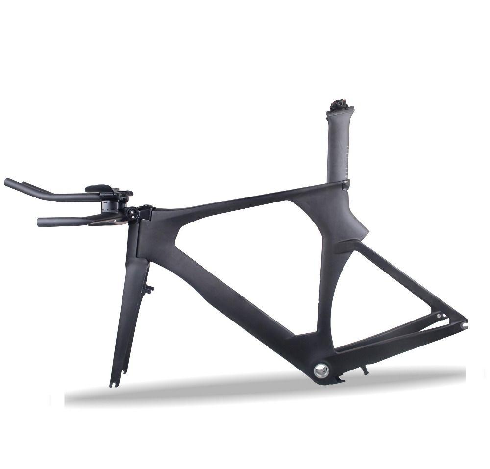 2018 WUNDER Aero Carbon Triathlon Rahmen Di2 TT 700c Carbon fahrrad rahmen UD matte oem Carbon zeitfahren rahmen mit bremse TRP