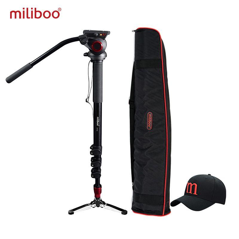 miliboo MTT705A Aluminum Portable Fluid Head Camera Monopod for Camcorder /DSLR Stand Professional Video Tripod 72