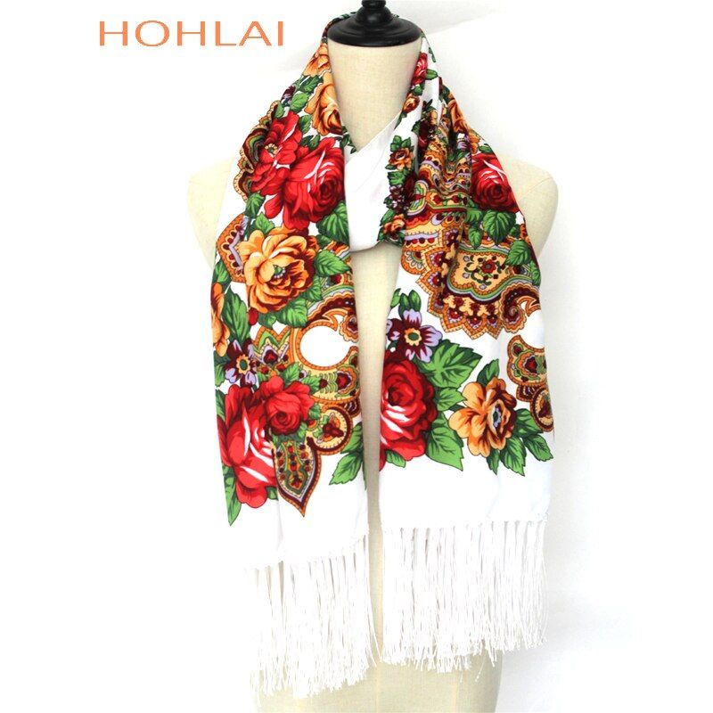 2018 Nouvelle marque de haute qualité Femmes impression longue gland hiver enveloppé écharpe chaude châle foulards Pour femmes 12 couleurs