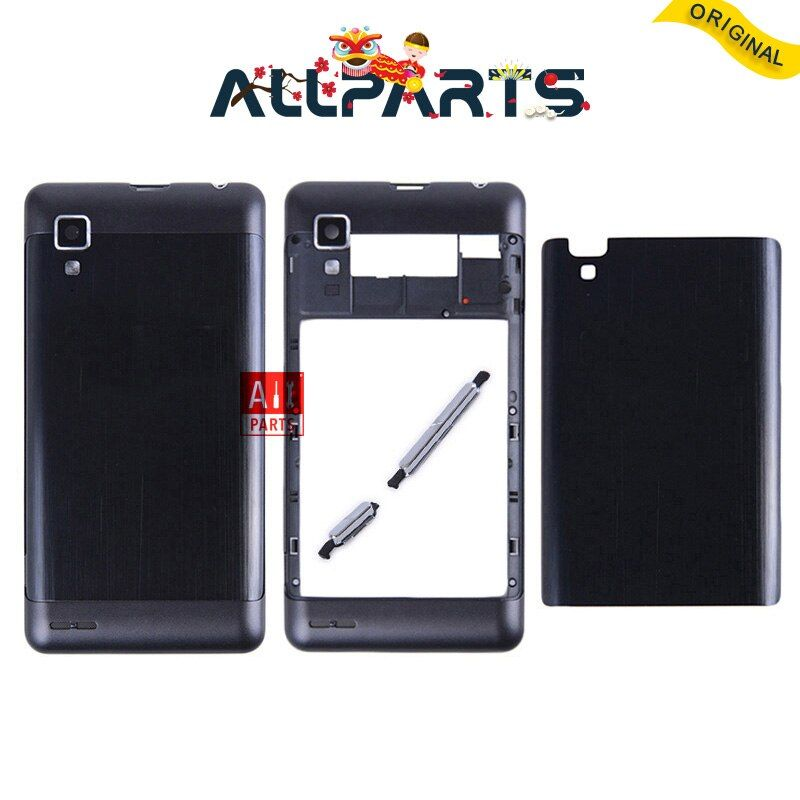 ALLPARTS New metal Arrière Logement Porte Pour Lenovo P780 Retour Batterie Cas de couverture avec Volume + Bouton D'alimentation + ensemble de Lentille D'appareil photo
