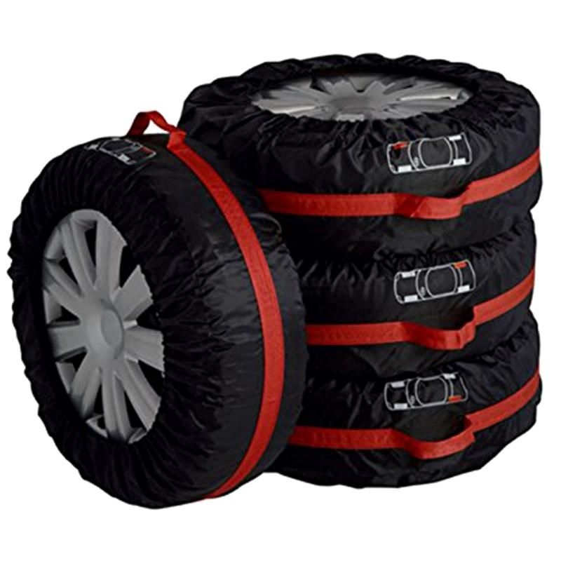 VODOOL 4Pcs/Lot Car Spare Tire Cover Case Polyester Auto Wheel Tires Storage Bags Vehicle Tyre Accessories Dust-proof Protector