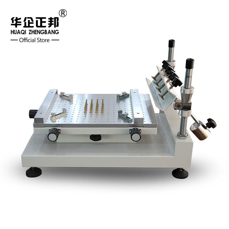 Free Shipping Smt Manual Solder Paste Printer / Best Precision Screen Stencil Printer