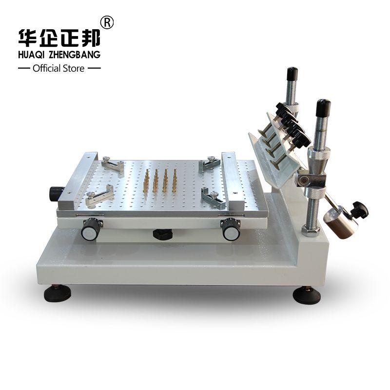 Free Shipping Smt Manual Solder Paste Printer / Best Precision Screen Stencil Printer