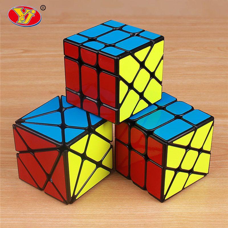 YJ Axe yongjun roue magic speed cube professionnel autocollant Fisher skew cubo magico jouets éducatifs pour enfants