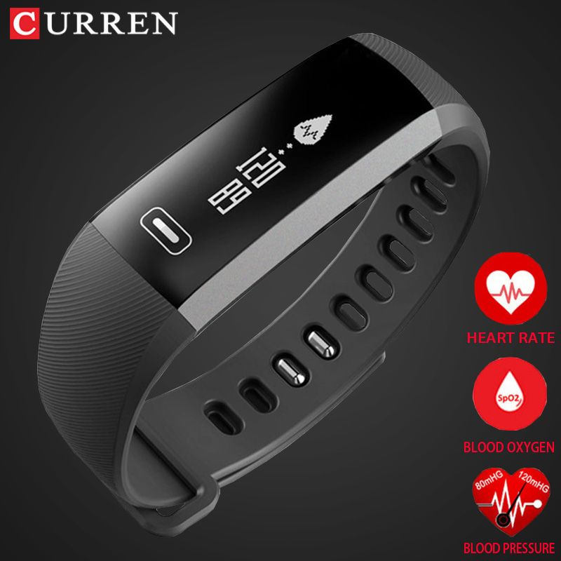 CURREN pro Smart wrist Band Heart rate Blood Pressure Oxygen Oximeter Sport Bracelet Watch intelligent For iOS Android Smartband
